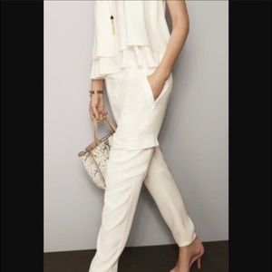 Ann Taylor Ivory Crepe Cargo Pants Size 4